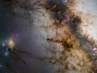 обои Млечный путь в центре галактики фото