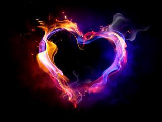 обои Огненное сердце в дыму фото