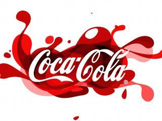 обои Кока-кола логотип красный фото