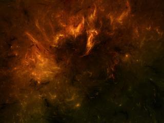 обои Горящая небула в космосе фото