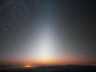 обои Зодиакальный свет неба фото