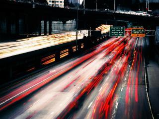 обои Огни автострады фото