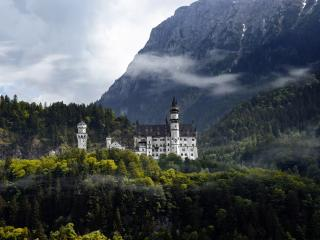 обои Замок в германии в горах фото