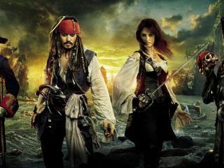 обои Герои фильма Пираты карибского моря фото