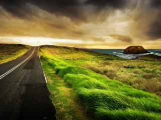 обои Приморская дорога фото