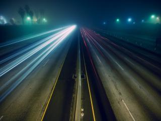 обои Пустая ночная автострада фото