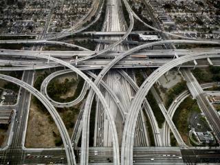 обои Удивительное расположение дорог лос-анджелеса фото