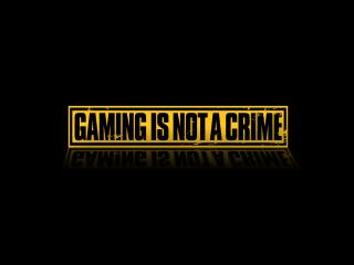 обои Gaming is not a crime надпись фото