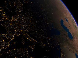 обои Искуственные огни в ночь на планете земля фото