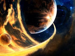 обои Комета из раскаленного пространства фото
