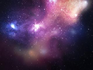 обои Космическая туманность в бескрайней вселенной фото