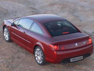 обои Peugeot 407 Coupe red фото
