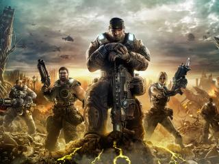 обои Gears of war 3,   субер бойцы фото
