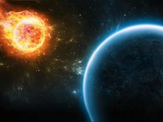 обои Метеорит убийца фото