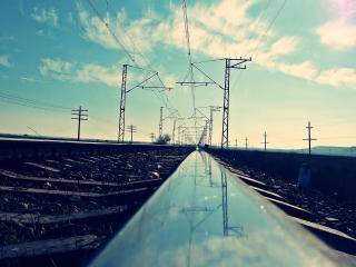 обои Железная дорога для электропоездов фото
