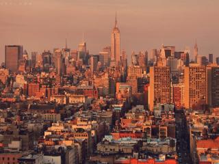 обои Огромный город нью-йорк фото