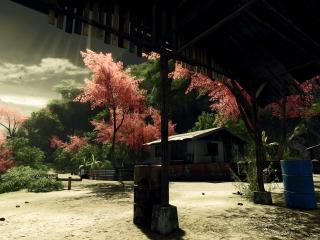 обои Зелено-розовый вид природы фото