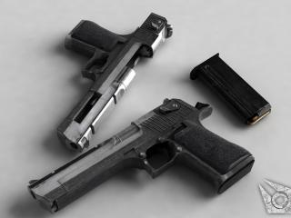 обои Магазин и два пистолета фото