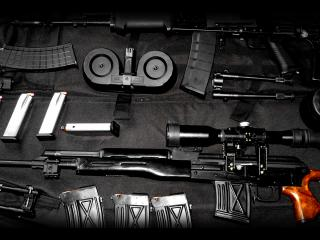 обои Набор оружия и боеприпасов фото