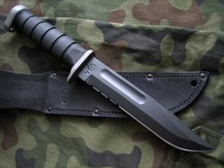 обои Нож военный с кобурой фото