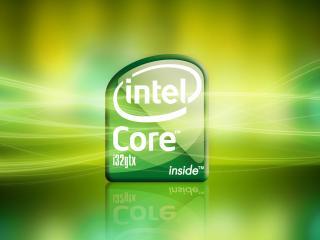 обои Зеленый логотип Intel core i32gtx фото