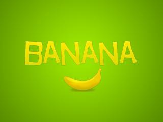обои Банан и надпись фото