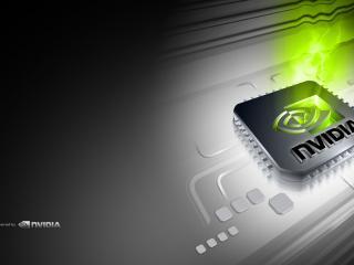 обои Nvidia видеокарты и надпись фото