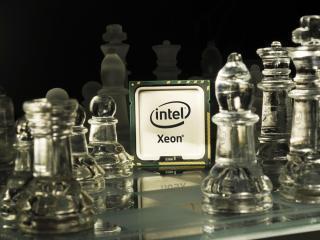 обои Процессор интел и прозрачные шахматы фото