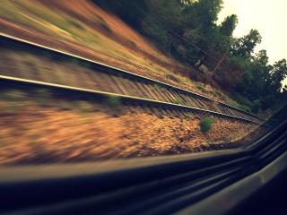 обои Скорось на железной дороге фото