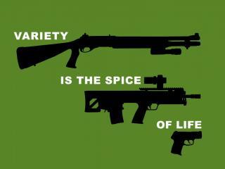 обои Дробовик,   винтовка и пистолет фото