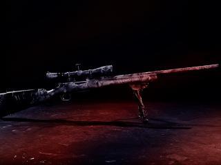 обои Снайперская винтовка с прицелом фото