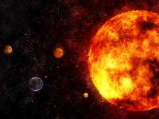 обои Планетная система в галактике фото