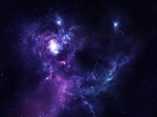 обои Яркие звезды в космосе фото