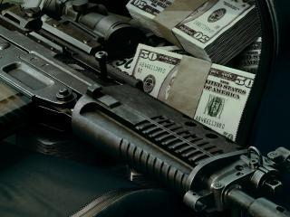 обои Оружие и деньги фото