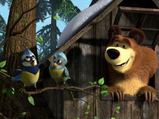 обои Маша и медведь фото