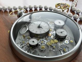 обои Прозрачные часы фото