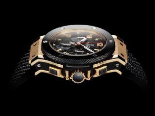 обои Швейцарские часы на черном фоне фото