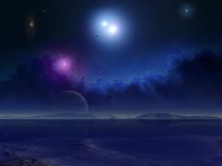 обои Планеты и звезды в небе фото