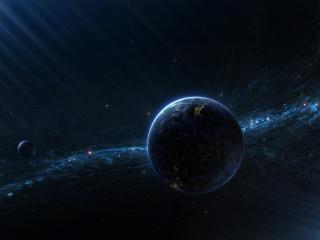 обои Планеты на фоне звездного скопления фото