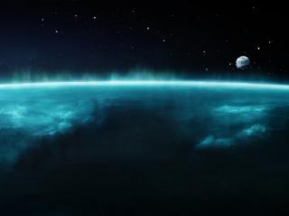 обои Поверхность земли и космос фото