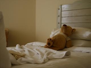 обои Медведь игрушка отдыхает в отеле фото