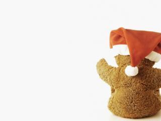 обои Медвежонок в красной шапке фото