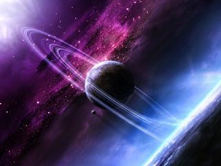 обои Планета и астероидный круг фото