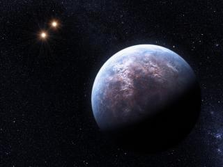 обои Планета и звёзды в космосе фото