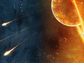 обои Сине-жолтый космос фото