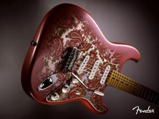 обои Гитара с орнаментом фото