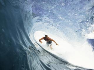 обои Серфингист в водовороте волны фото