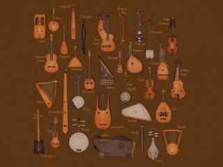 обои Струнные музыкальные инструменты фото