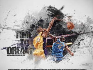 обои Баскетбольная дуэль фото
