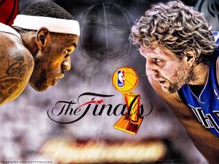обои Финальный поединок в баскетболе фото